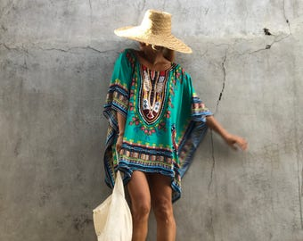 Bohemian, beach poncho beach festival boho top  ,summer tunic Oversize ,holiday,holiday pohcho ,Tuscany,Losse fit