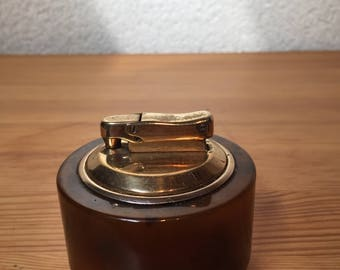 Vintage Onyx Cigarette Lighter, Made in France