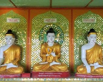 Buddha Photography Art Print, Buddha Statues, Myanmar Photography, Burma Photography, Travel Photography, Asia Photography, Wall Art Print