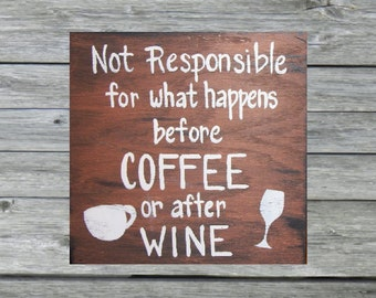COFFEE/WINE SIGN primitive style wood sign,signs