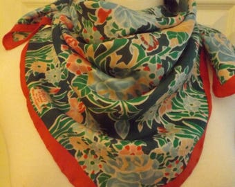 Vintage Liberty of London Silk Floral Scarf, Designer Scarf, Vintage Scarf, Ladies Scarf, Women's Accessory, Head Neck Scarf, Retro Fashion