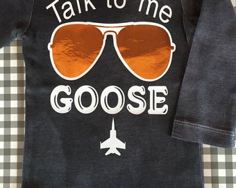 Talk to me Goose baby boy onesie shirt
