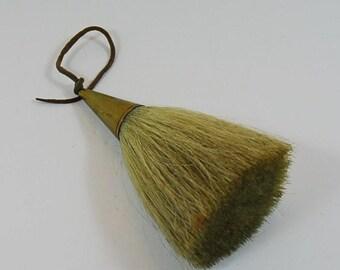 Vintage Sporran Tassel with Animal Hair and Brass Cone? Scottish Tassel