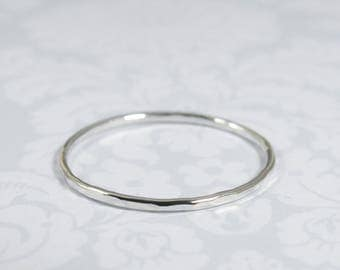Silver Stacking Rings BOHO Sterling Silver Super Thin Dainty Ring