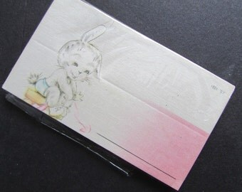 Easter Bunny Vintage Place Cards Sold Individually