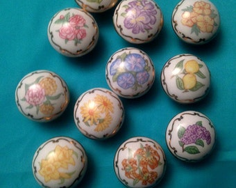 Vintage Hand Painted Knobs at their finest