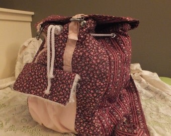 Large Quilted Backpack with Durable Lining