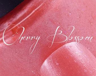 Pink Glitter Pearl Indie Nail Polish - Cherry Blossom NL-90 - 7ml Custom Nail Lacquer