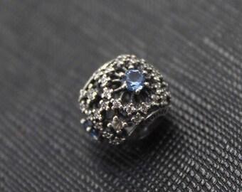 New Authentic Pandora Charm Bead Cinderella'S Wish Light Blue 791592CFL