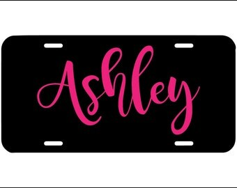Personalized license plate, front car license plate, monogram, name car tag, cute girly car accessory, teen car vanity plate, custom tag