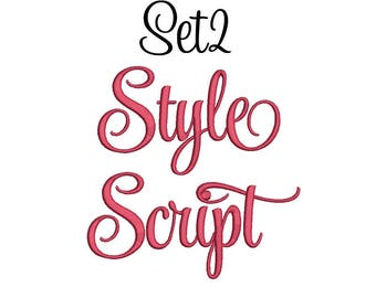 SALE 50% 5 Size Style Script Font Embroidery Designs set 2, BX fonts Machine Embroidery Designs - 9 File Fomats Pes font