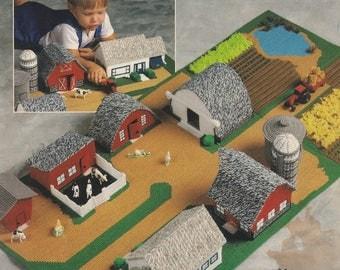 Little Farm, The Needlecraft Shop Plastic Canvas Pattern Booklet 903701 Farmhouse Barnyard Fields & More Playset