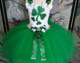St Patricks Day green princess tutu