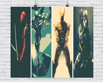 Marvel greats  A3  fine art print ideal for framing