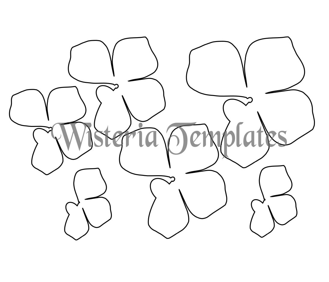 Hanging Wisteria Paper Flowers Diy Wisteria Templates