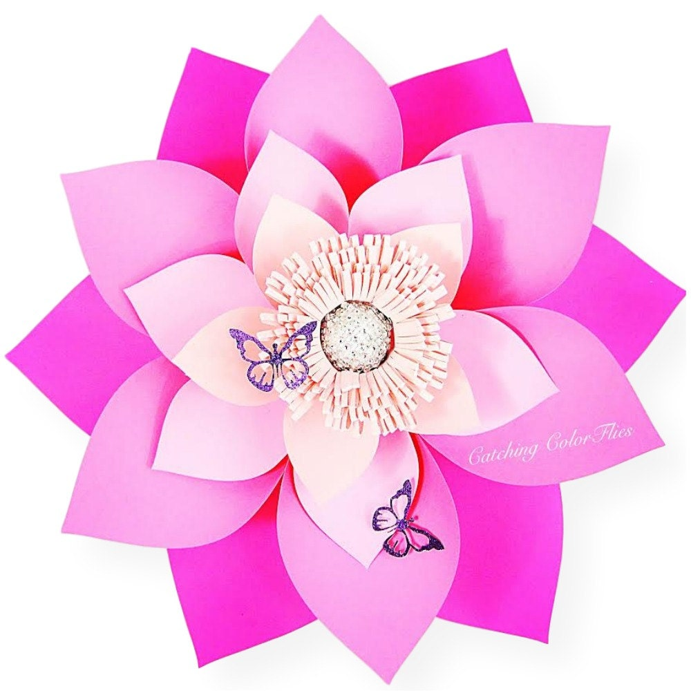 Giant Paper Flower Template Printable PDF Templates Video