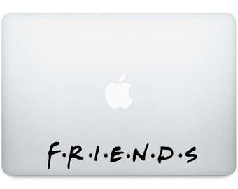 TV show friends laptop vinyl decal sticker - laptop sticker - phone sticker - personalize - car decal - friends - vinyl - laptop decal