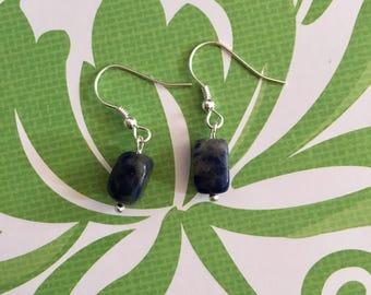 mini sodalite earrings.