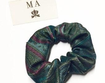Green kashmir scrunchie
