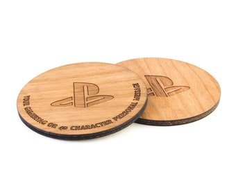 PlayStation inspired coaster