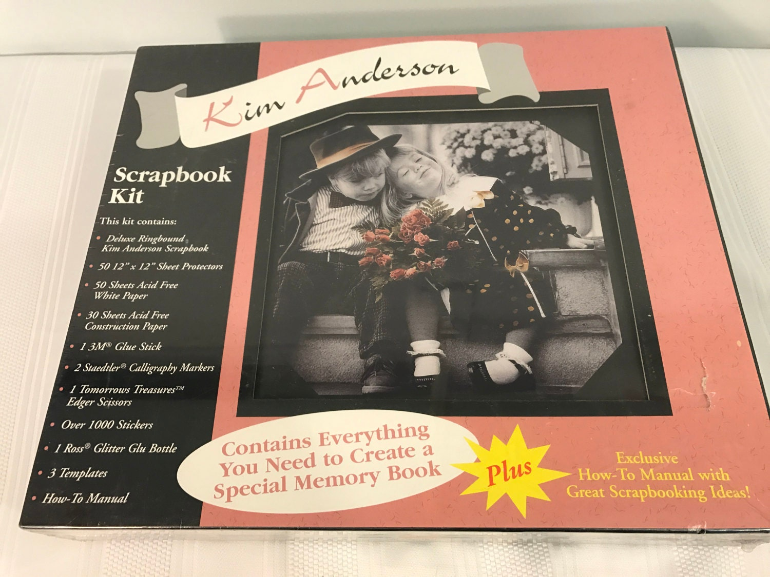 How to scrapbook with glitter paper - Sold By Gillysonlinethrift