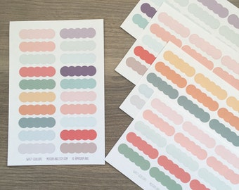 Blank Scalloped Stickers (IWP17-SCALLOP)