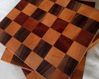Block Pattern End-Grain Chopping Board