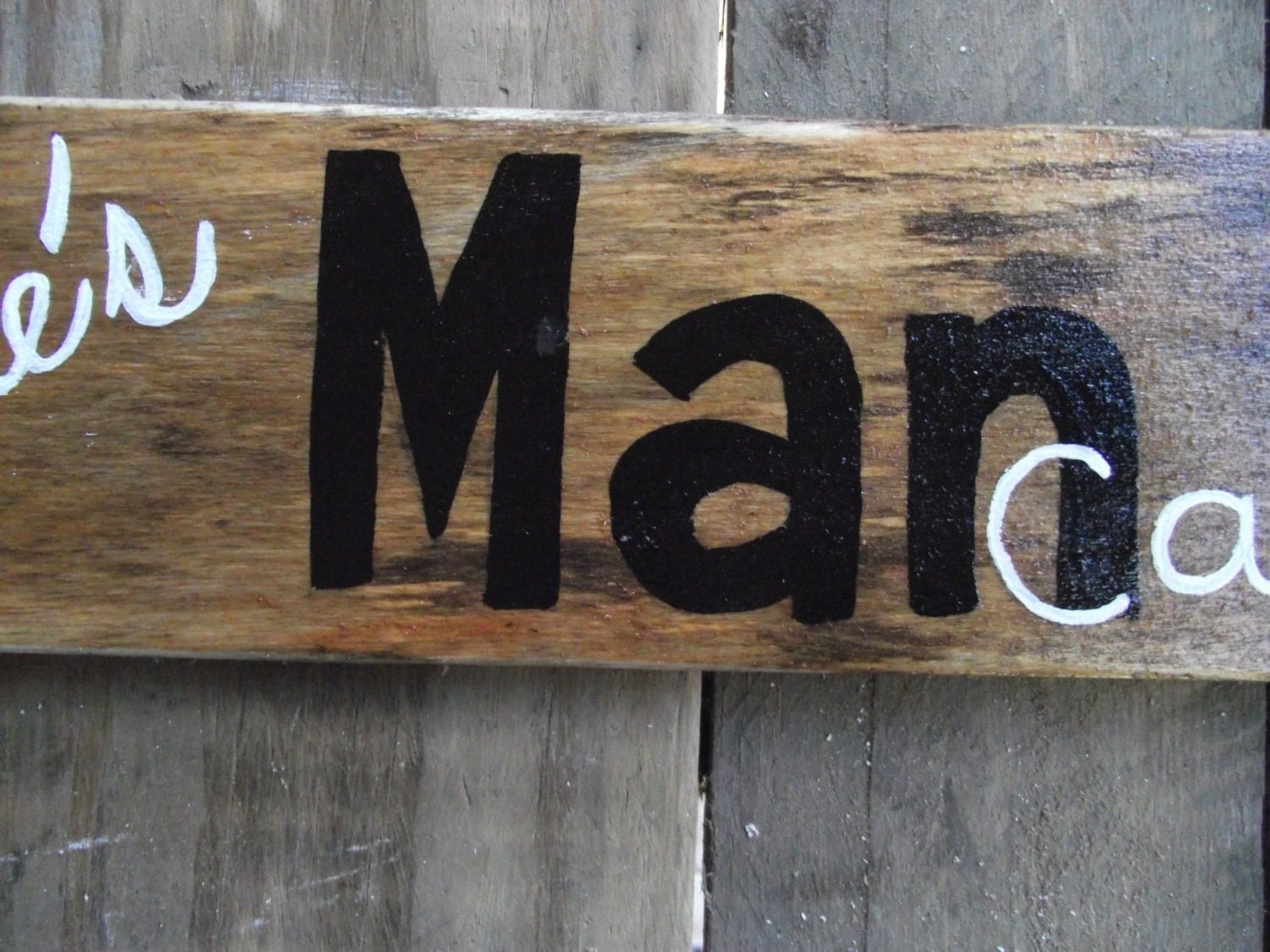 Large Personalized Man Cave Signs : Man cave sign custom pallet