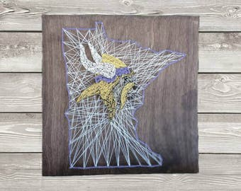 Minnesota Vikings State  String Art Sign