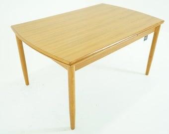 D182 SALE! Danish Mid Century Modern Teak Draw Leaf Dining Kitchen Table