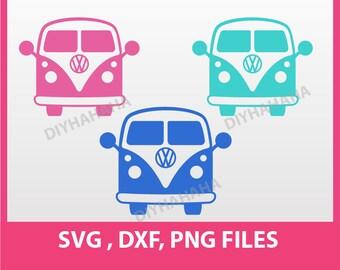 "Instant Download, Camper Van, Retro Van, SVG, DXF, PNG Formats,  8.5x11"" sheet,  Printable 0024"
