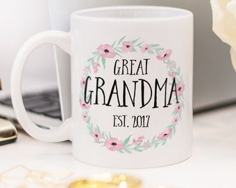 Great Grandma mug, beautiful gift for new Great Grandma!