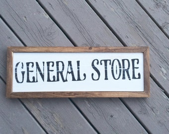 General Store Farmhouse Sign // general store // vintage sign // farmhouse sign // farmhouse decor // kitchen decor // kitchen sign