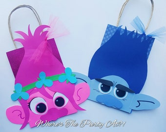 Trolls Inspired Favor Bags/Poppy and Branch