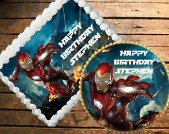 Iron Man Edible Cake Topper