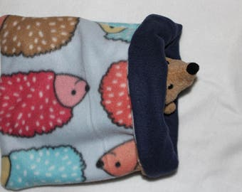Hedgehog print pouch