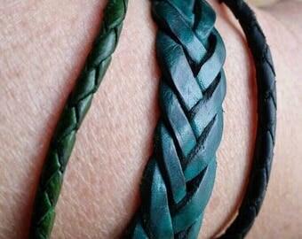 30% 3 stackable bracelet, green bracelet, leather bracelet, men bracelet, vintage bracelet, leather bangle, boho bracelet, bangle bracelet