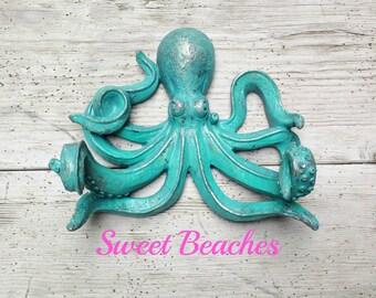 16 colors Octopus Toilet Paper Holder Beach Seaside Resort Nautical Ocean Sea Decor