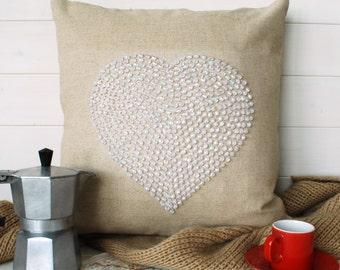 Crystall Heart Cushion