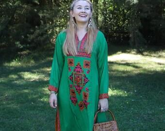 THE FOUR SEASONS: Spring Embroidered Kaftan