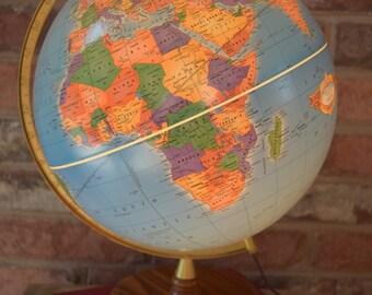 WORLD GLOBE Vintage World light-Up Globe