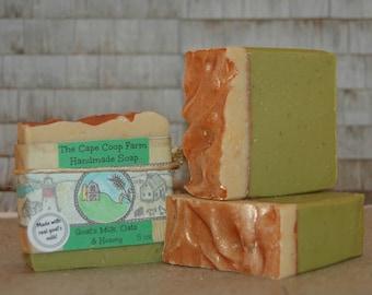 Goat's Milk, Oats & Honey Soap, cold process soap, goat's milk soap, natural soap