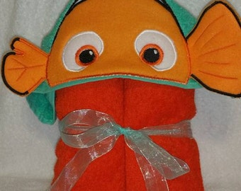 Finding nemo inspired Hooded Towel
