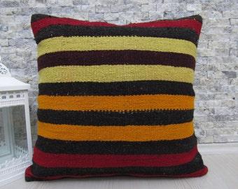 sale 20 x 20 decorative kilim cushion bohemian throw pillow organic couch pillow aztec pillow turkey pillow kilim pillow boho pillow
