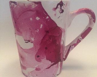 Marbled Coffee Mug - Red/Purple