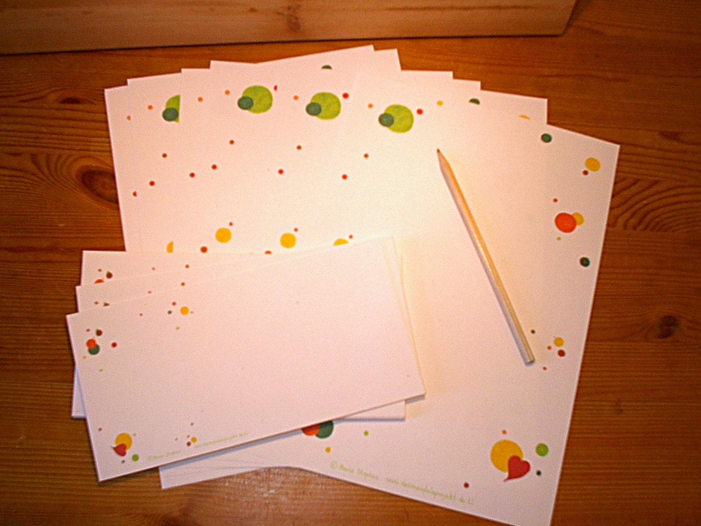 Letter Paper Set Bubbles A4 Letter Writing Set