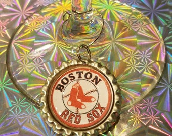 Boston Red Sox wine charms