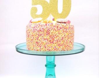 Cake topper, 50 cake topper, glitter cake topper, glitter cake decoration, 50 cake decoration, fifty cake topper, 50 party decor