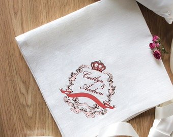 Royal Embroidery for Special Occasion Napkins Set of 2 Napkins Eco Friendly Napkins Natural Wedding Embroidery