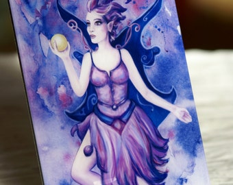 "High Quality Fairy Art Print ""Flower Fairy Sansalina"" (photo under acrylic glass with stand)"